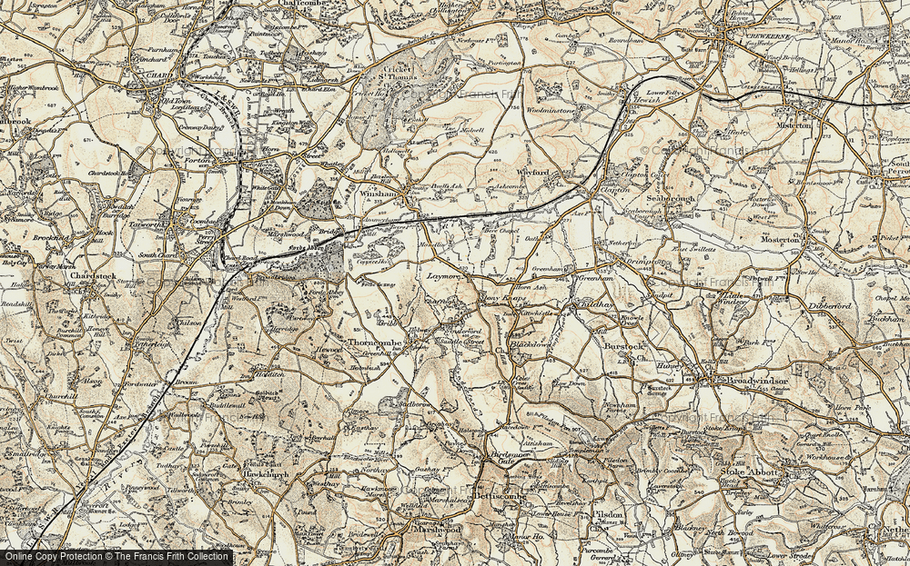 Old Map of Laymore, 1898-1899 in 1898-1899