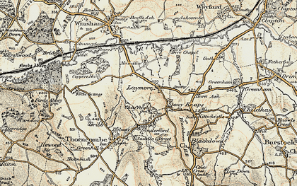 Old map of Laymore in 1898-1899
