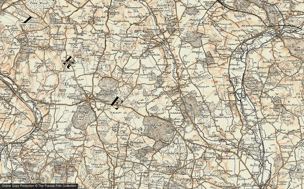 Old Map of Layters Green, 1897-1898 in 1897-1898