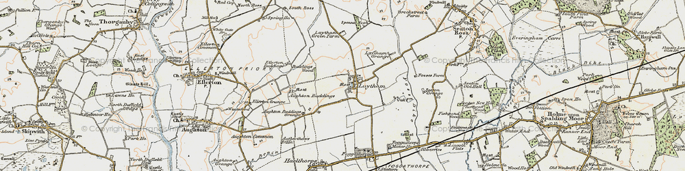Old map of Laytham in 1903