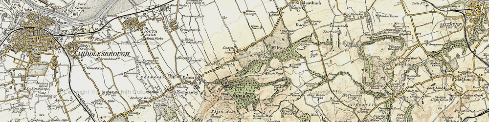 Old map of Lazenby in 1903-1904