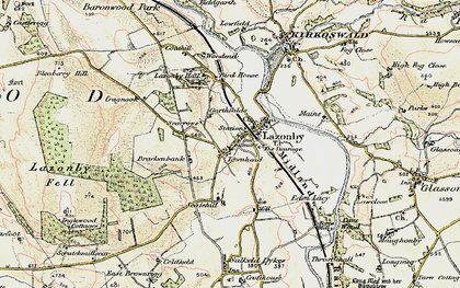Old map of Lazonby in 1901-1904