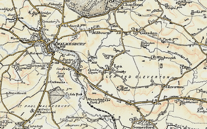 Old map of Lea in 1898-1899