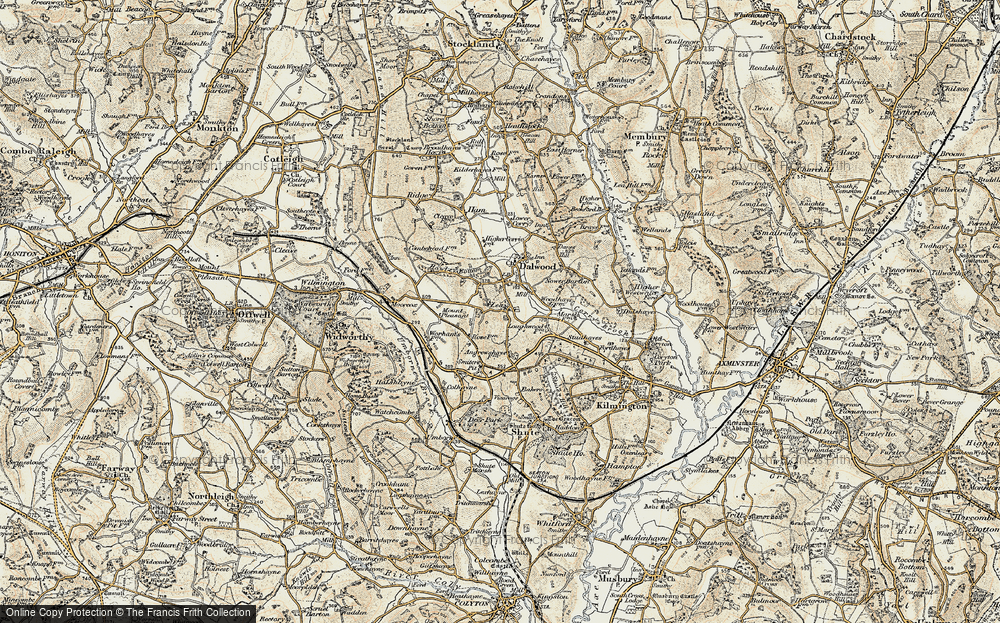 Old Map of Historic Map covering Bakers Mead in 1898-1900