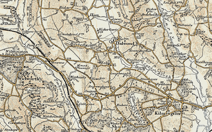 Old map of Lea in 1898-1900