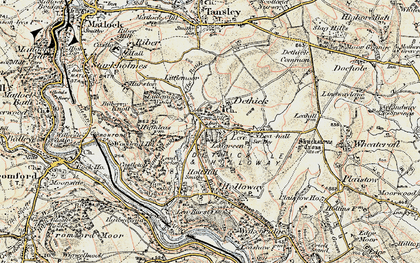 Old map of Lea in 1902-1903