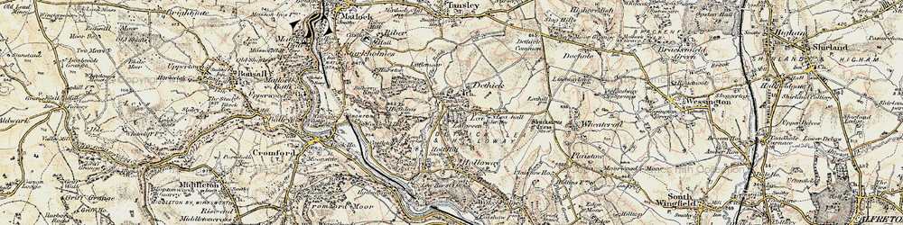 Old map of Lea Hall in 1902-1903