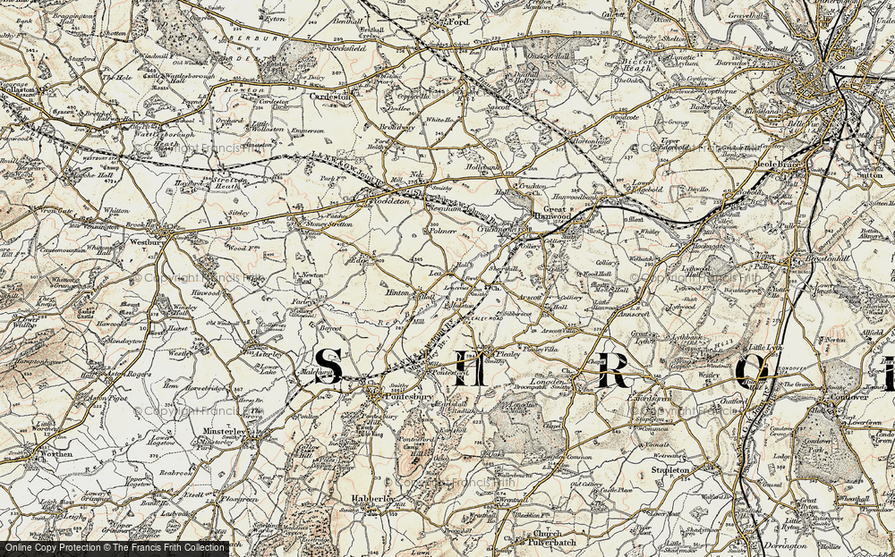 Old Map of Lea, 1902 in 1902