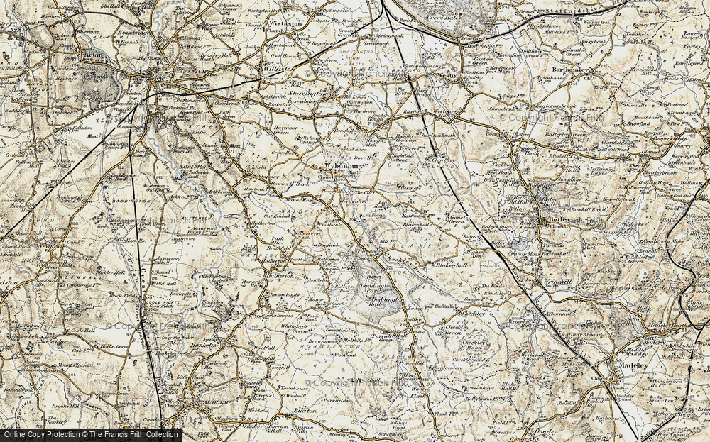 Old Map of Lea Forge, 1902 in 1902