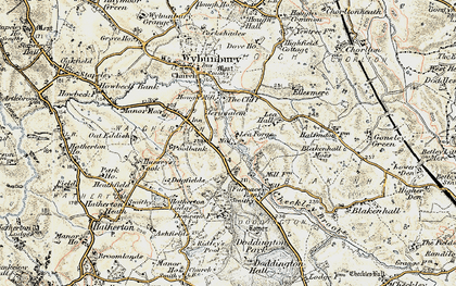Old map of Lea Forge in 1902
