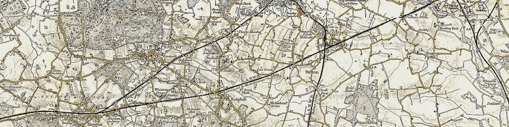 Old map of Lea Green in 1903