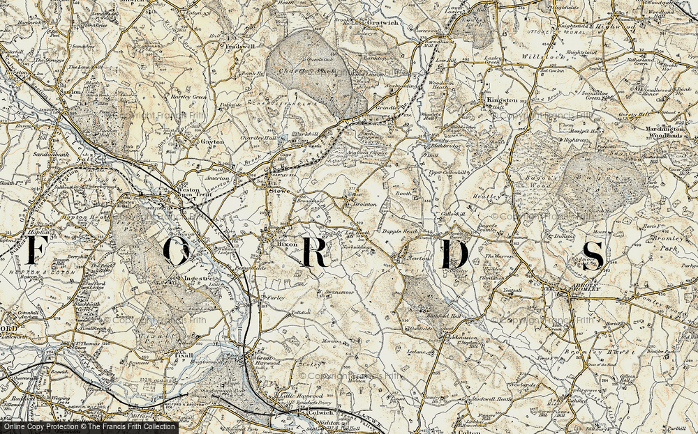 Old Map of Lea Heath, 1902 in 1902