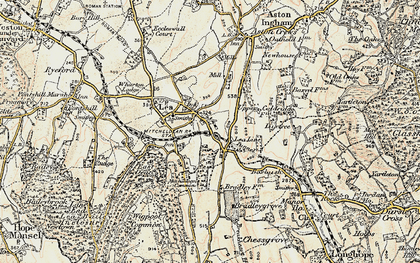 Old map of Lea Line in 1899-1900