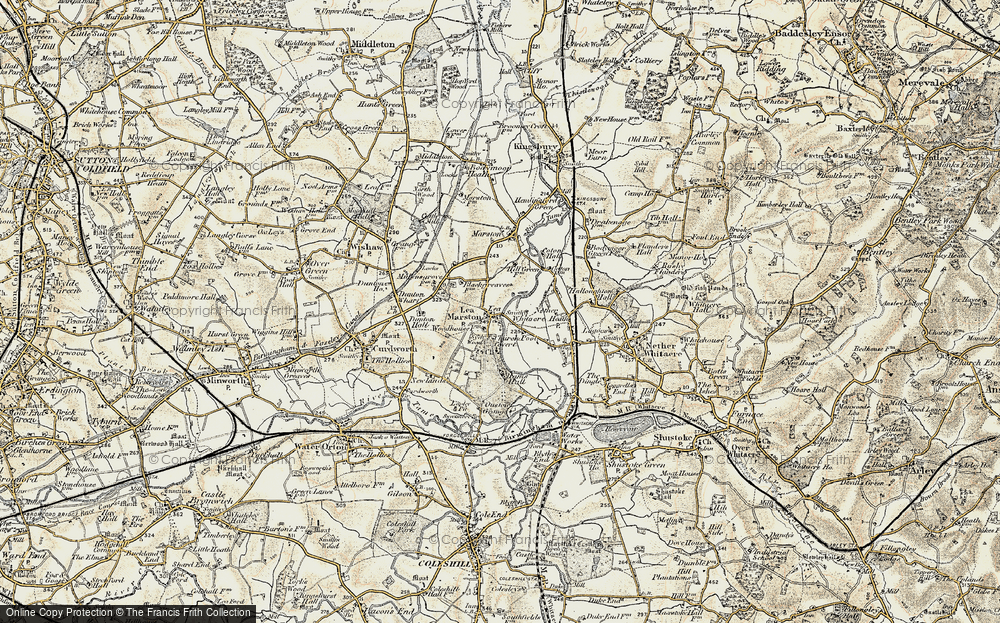 Old Map of Lea Marston, 1901-1902 in 1901-1902