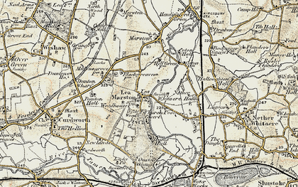 Old map of Lea Marston in 1901-1902