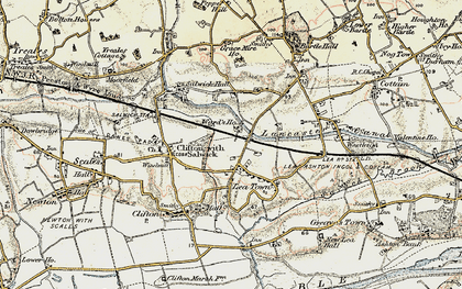 Old map of Lea Town in 1903