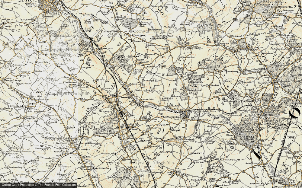Old Map of Lea Valley, 1898-1899 in 1898-1899