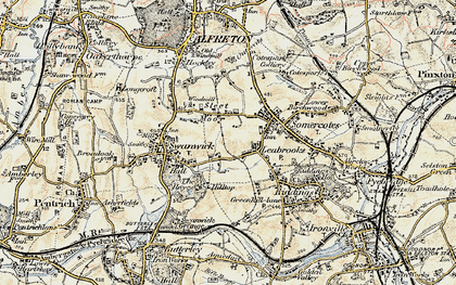 Old map of Leabrooks in 1902