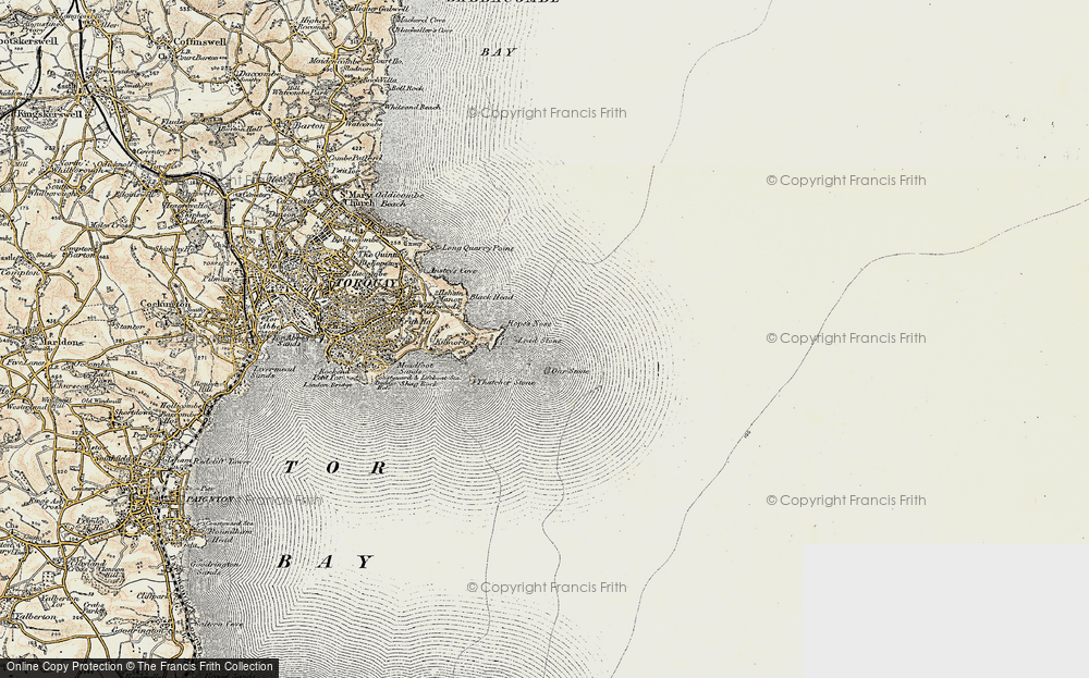 Old Map of Lead Stone, 1899 in 1899
