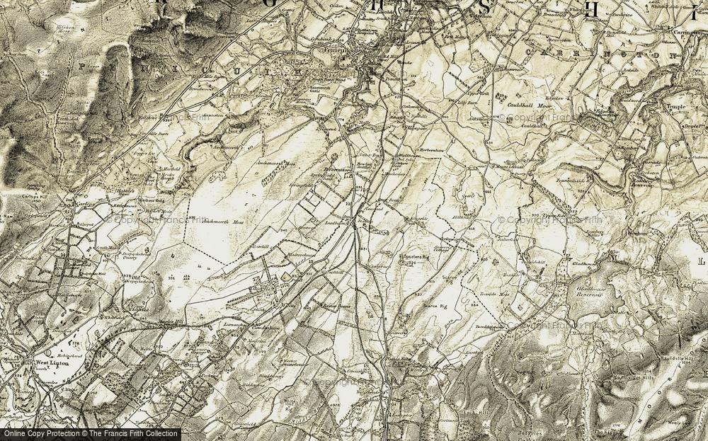 Old Map of Leadburn, 1903-1904 in 1903-1904