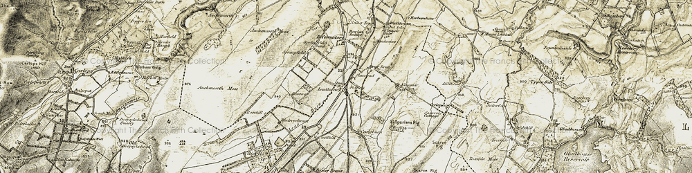 Old map of Whim Hall in 1903-1904