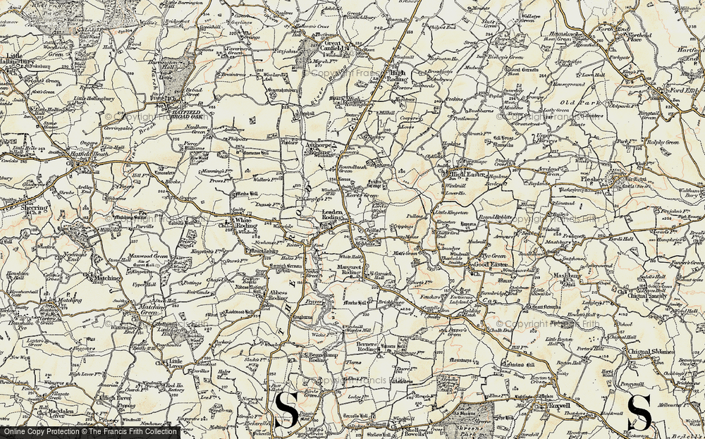 Old Map of Leaden Roding, 1898 in 1898