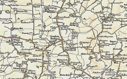 Old map of Leaden Roding in 1898