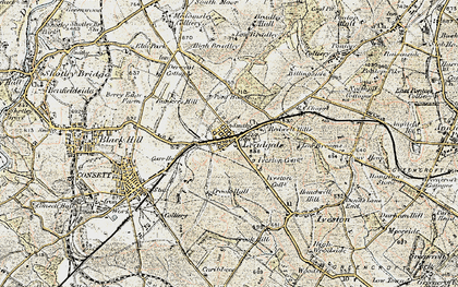 Old map of Leadgate in 1901-1904