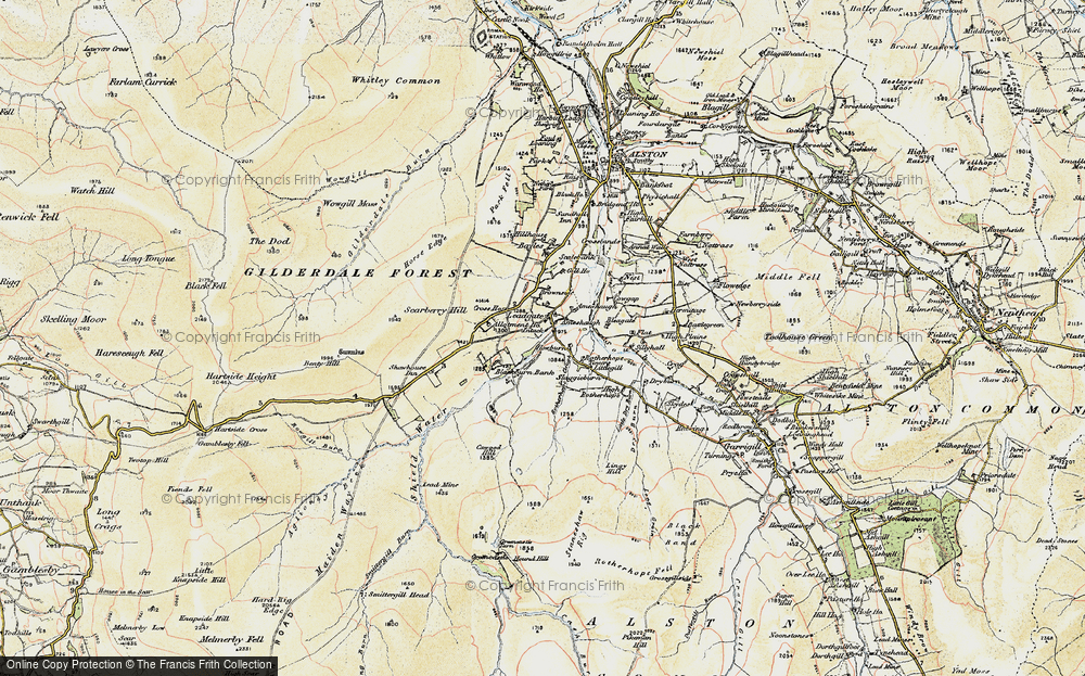 Old Map of Leadgate, 1903-1904 in 1903-1904