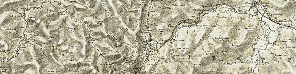 Old map of Wool Law in 1904-1905