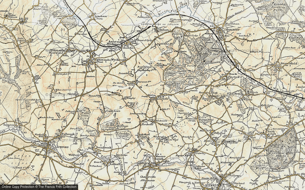 Old Map of Leafield, 1898-1899 in 1898-1899