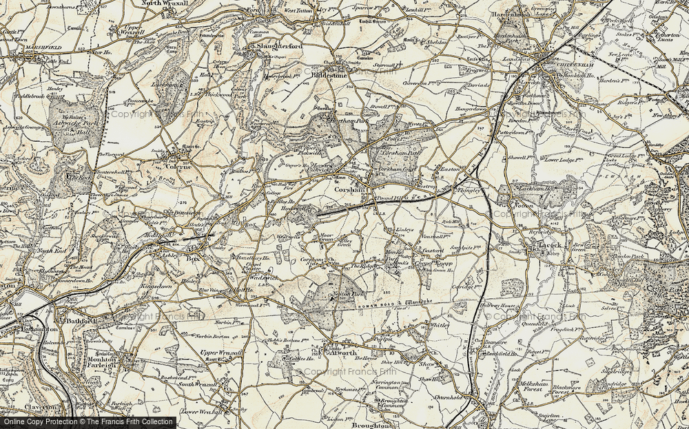 Old Map of Leafield, 1899 in 1899