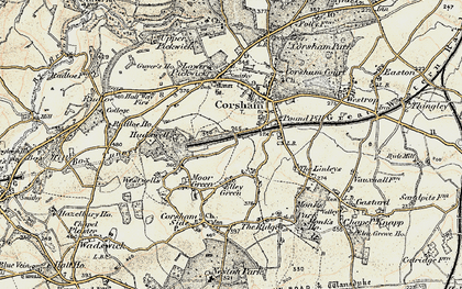 Old map of Leafield in 1899