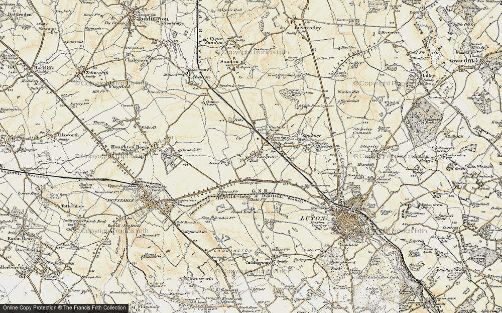 Old Map of Leagrave, 1898-1899 in 1898-1899