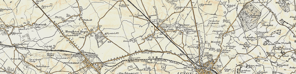 Old map of Leagrave in 1898-1899