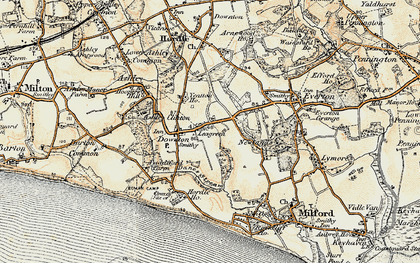 Old map of Yeatton Ho in 1899-1909