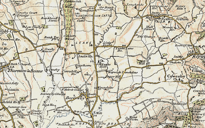 Old map of Leake in 1903-1904