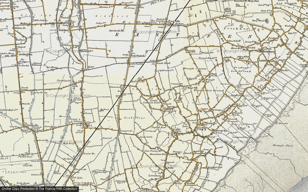 Old Map of Leake Commonside, 1901-1902 in 1901-1902