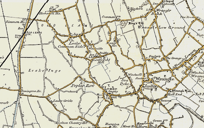 Old map of Leake Fold Hill in 1901-1902