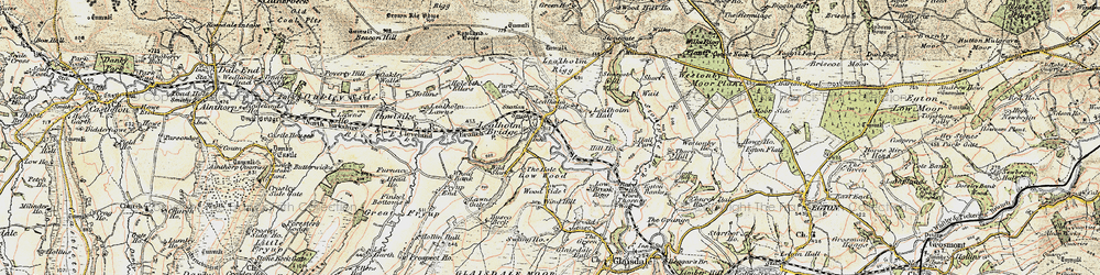Old map of Lealholm in 1903-1904