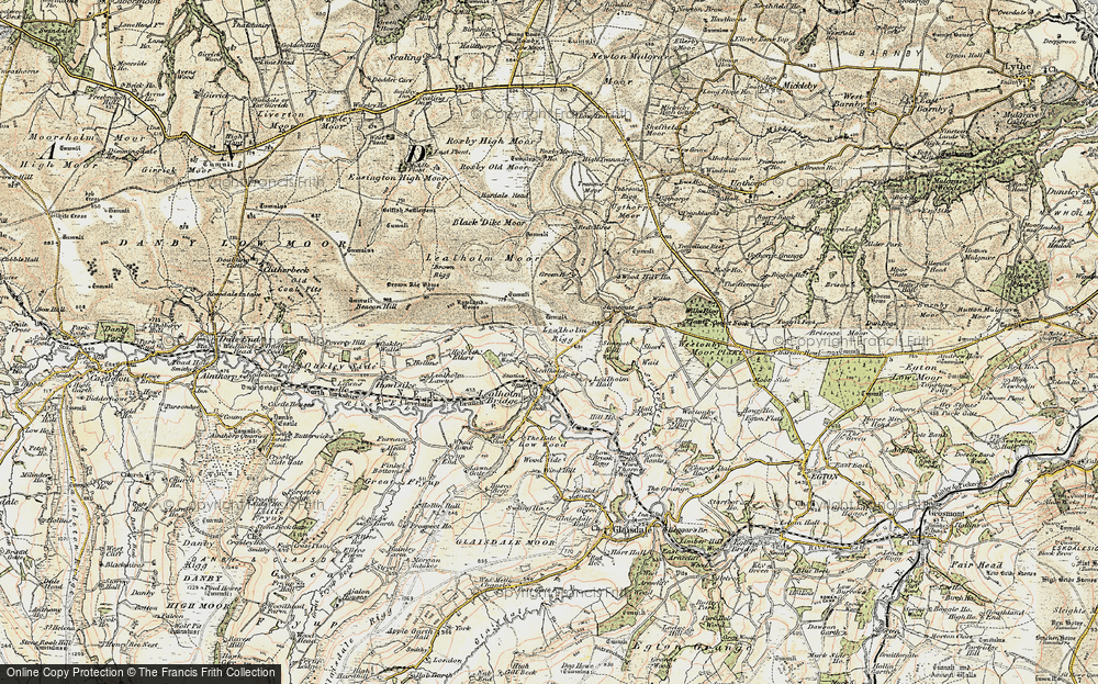 Old Map of Historic Map covering Lealholm Moor in 1903-1904