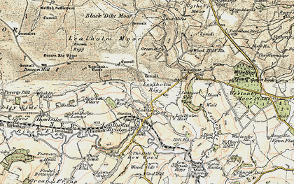 Old map of Lealholm Moor in 1903-1904