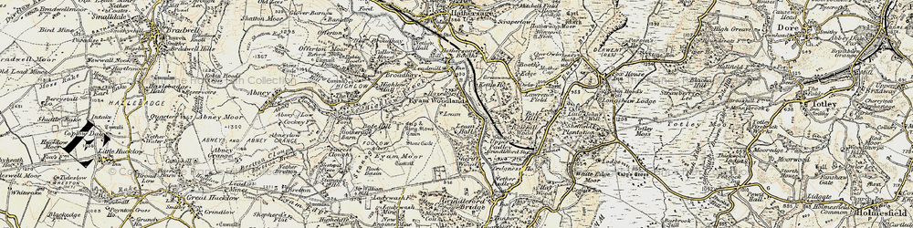 Old map of Leam in 1902-1903