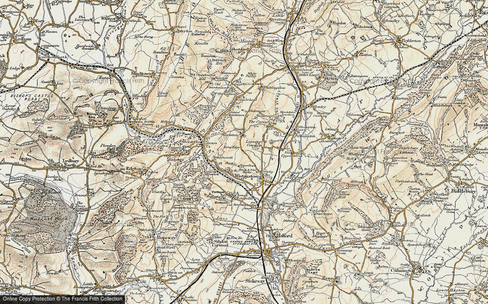 Old Map of Leamoor Common, 1902-1903 in 1902-1903