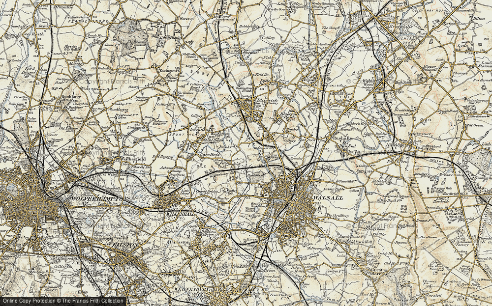 Old Map of Leamore, 1902 in 1902