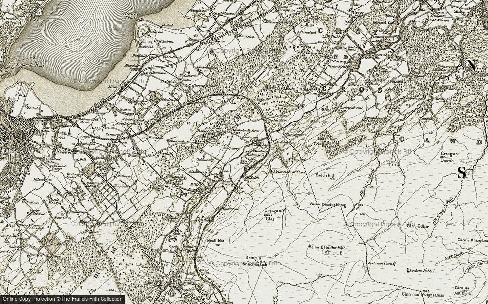Old Map of Leanach, 1908-1912 in 1908-1912