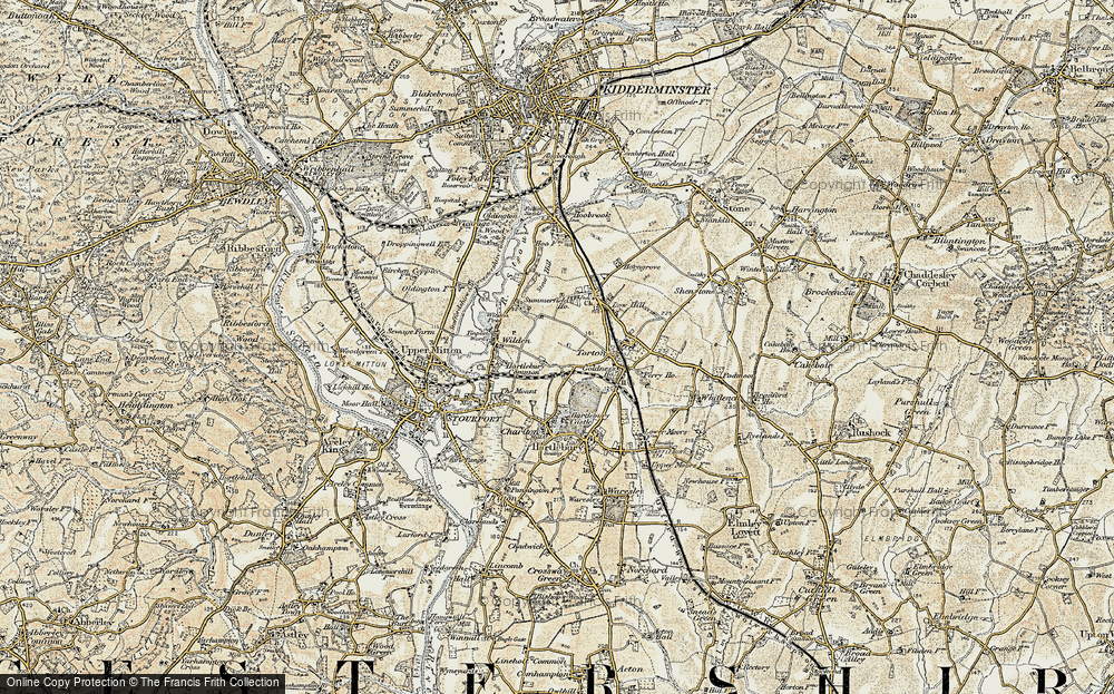 Old Map of Leapgate, 1901-1902 in 1901-1902