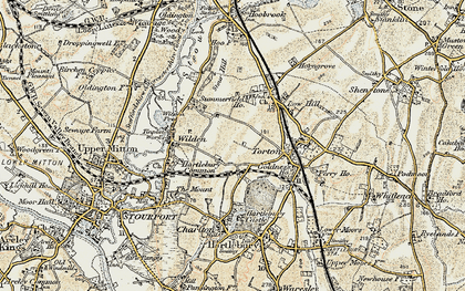 Old map of Leapgate in 1901-1902