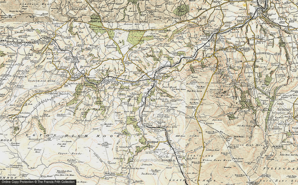 Old Map of Lease Rigg, 1903-1904 in 1903-1904