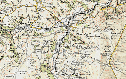 Old map of Lease Rigg in 1903-1904